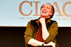 Charles Busch laughing